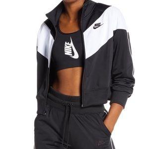 NEW Nike Heritage Crop Zip Up Track Jacket Size XS